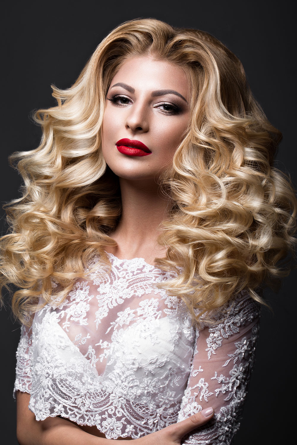 Glamour Queen bridal hair and makeup