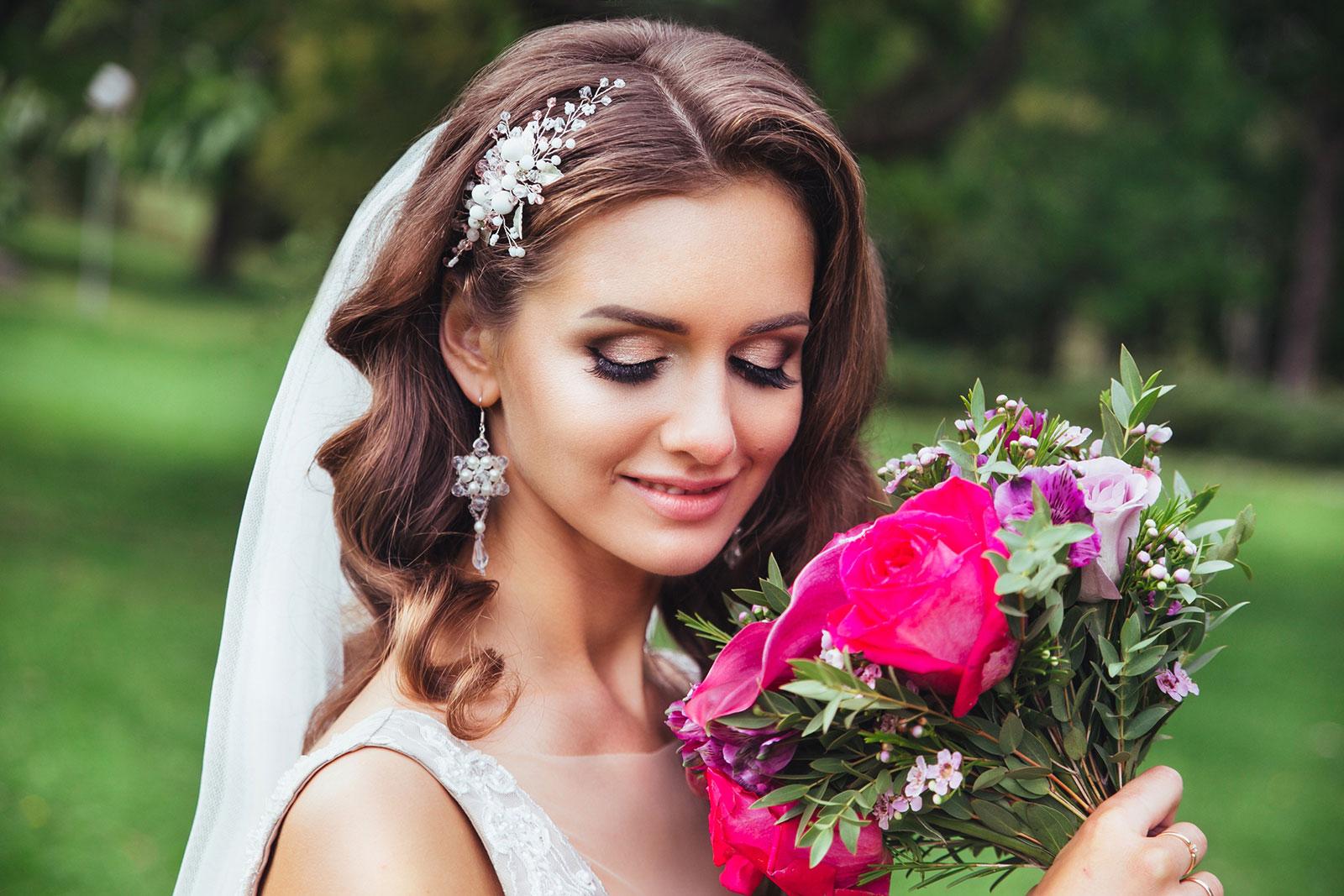 Glowing Cheeks & Outdoor Eyes Wedding Makeup