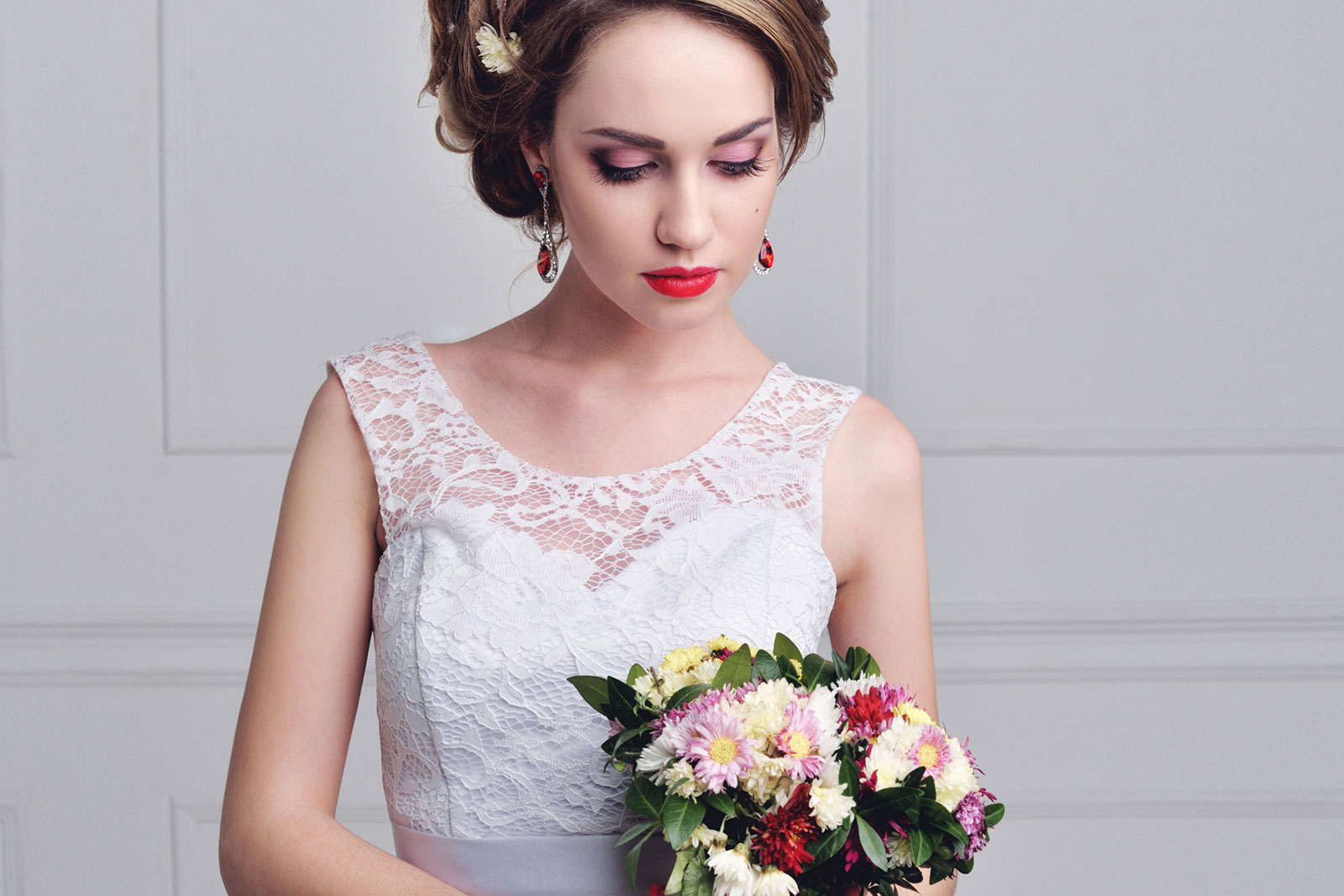 Pink & Red Colour Combo Wedding Makeup