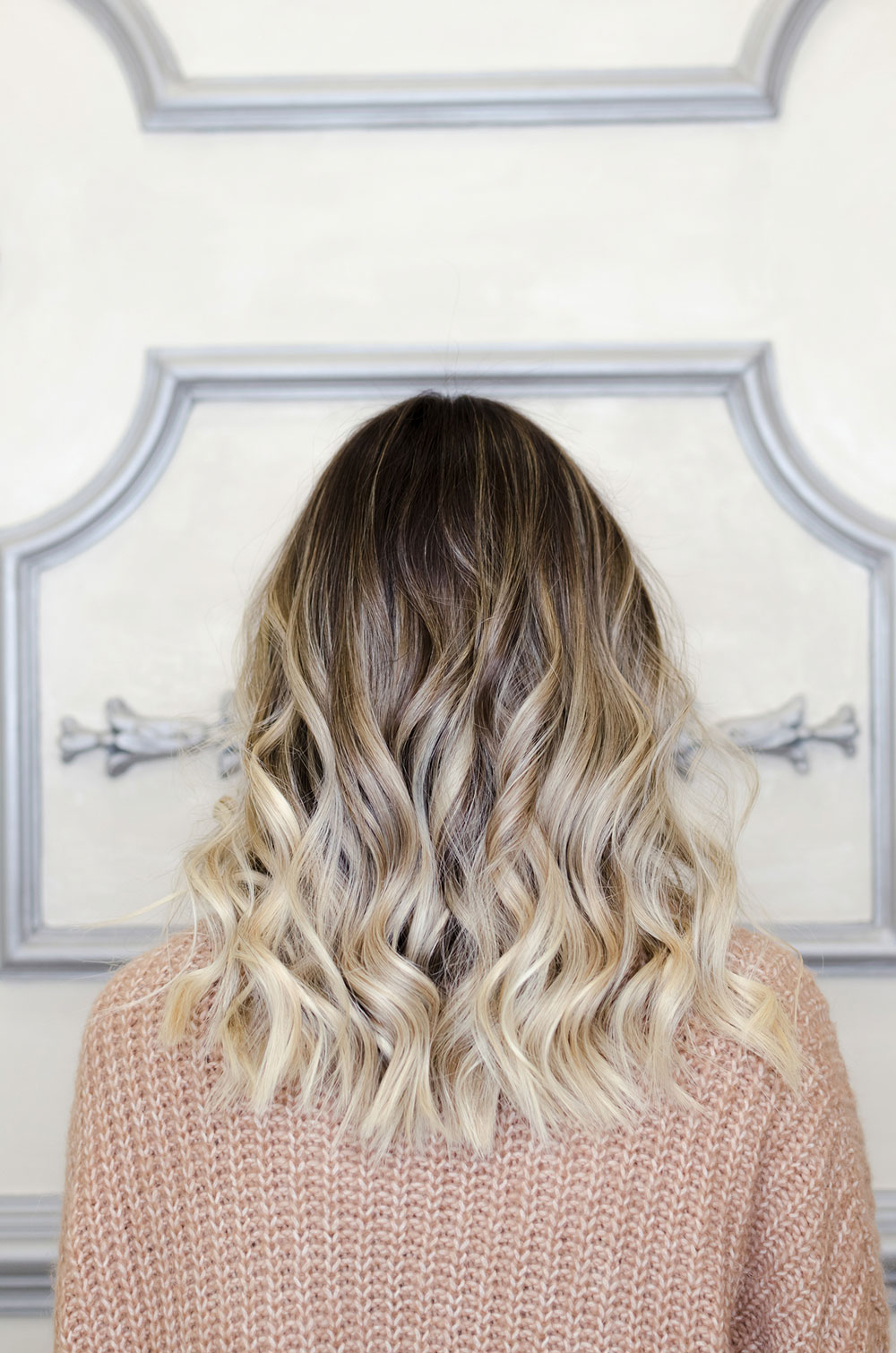 The brassy balayage brown to blonde ombre
