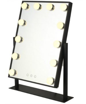 Glam X Black Hollywood Vanity mirror