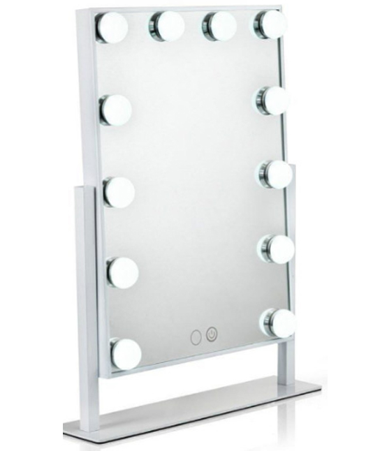 Glam X White LED Makeup Mirror with lights