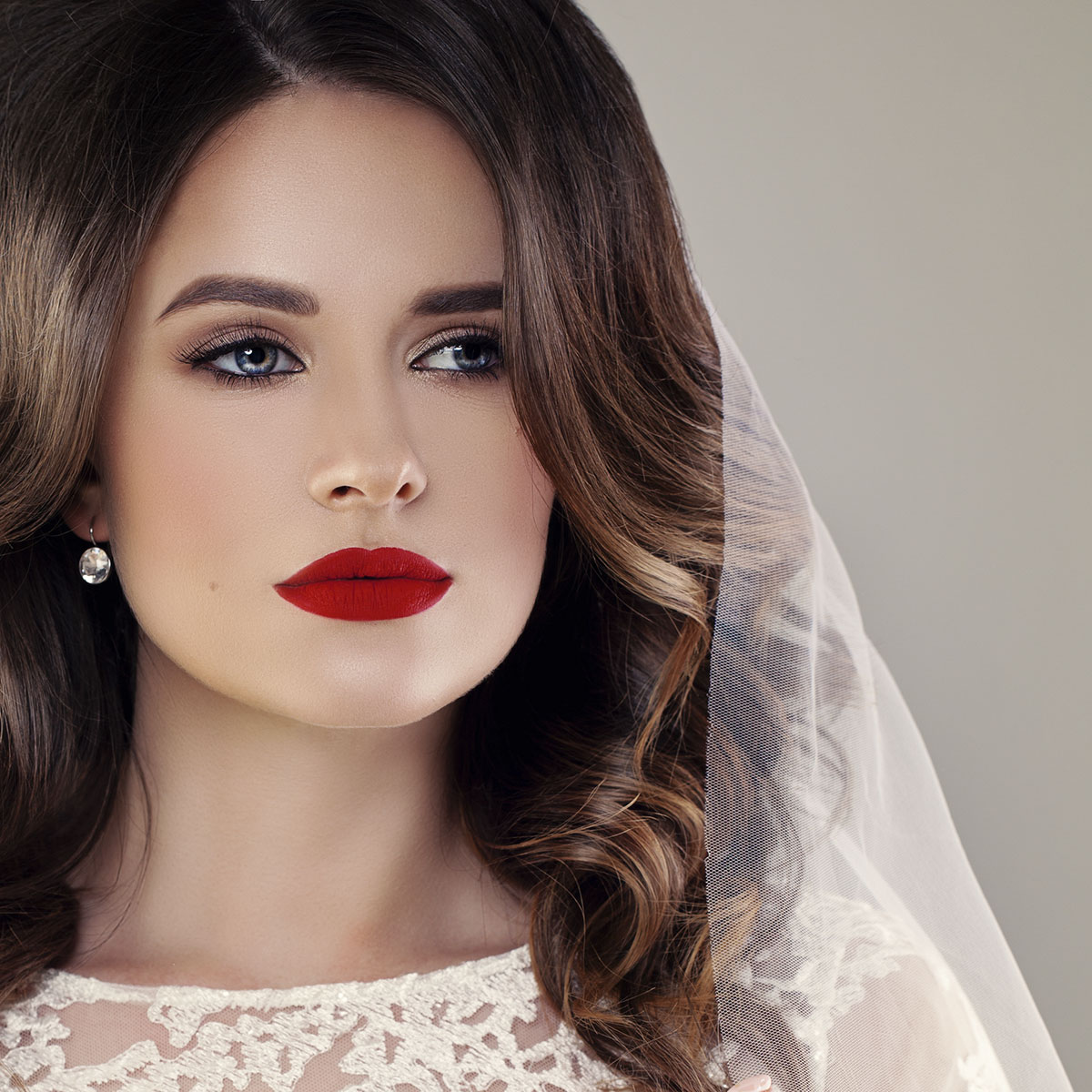 Soft Face & Matte Lips Wedding Makeup